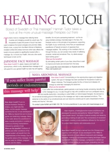 Maya in Natural Health Magazine