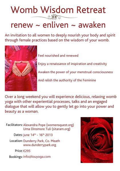 Womb Yoga Flyer June 2013
